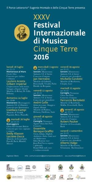 THE ARTISTS OF THE CINQUE TERRE INTERNATIONAL FESTIVAL
